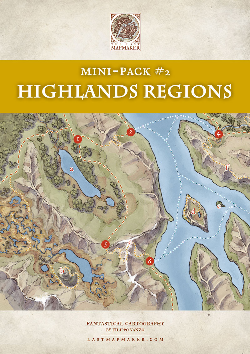 rpg tabletop map highland regions
